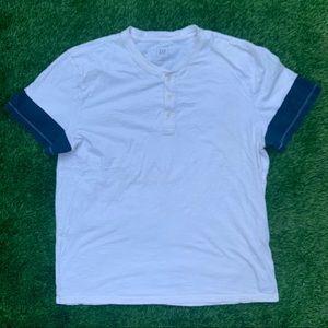 Vintage Gap Half Button Cotton Shirt Size XL